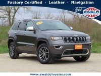 Certified, 2018 Jeep Grand Cherokee Limited 4X4, Gray, C21J88A-1