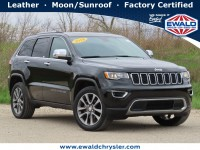 Certified, 2018 Jeep Grand Cherokee Limited 4x4, Black, CN2115-1