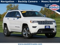 Certified, 2018 Jeep Grand Cherokee Overland, White, CN1988-1