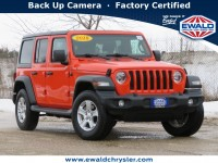Certified, 2018 Jeep Wrangler Unlimited Sport S 4x4, Orange, CN2049B-1