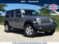 New, 2018 Jeep Wrangler Unlimited Sport S, Silver, C18J227-1