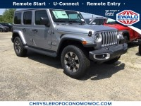 New, 2018 Jeep Wrangler Unlimited Sahara, Silver, C18J319-1