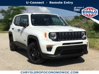 New, 2019 Jeep Renegade Sport, White, C19J244-1