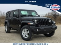 New, 2019 Jeep Wrangler Unlimited Sport S, Black, C19J137-1