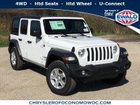 New, 2019 Jeep Wrangler Unlimited Sport S, White, C19J146-1