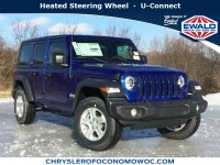 New, 2019 Jeep Wrangler Unlimited Sport S, Blue, C19J147-1