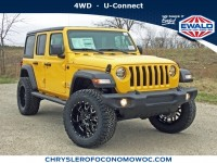 New, 2019 Jeep Wrangler Unlimited Sport S, Yellow, C19J153-1