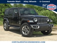 Used, 2019 Jeep Wrangler Unlimited Sahara, Black, C19J259A-1
