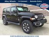 New, 2019 Jeep Wrangler Unlimited Sahara, Black, C19J91-1