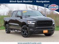 Certified, 2019 Ram 1500 BIG HORN CREW CAB 4X4, Black, CN2110-1