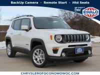 New, 2020 Jeep Renegade Latitude 4X4, White, C20J133-1