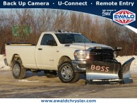 New, 2020 Ram 2500 TRADESMAN 4X4 REG CAB W/SNOWPLOW AND SAL, White, D20D505-1