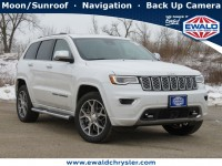New, 2021 Jeep Grand Cherokee Overland 4X4, White, C21J75-1