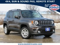 New, 2021 Jeep Renegade Latitude 4X4, Gray, C21J51-1