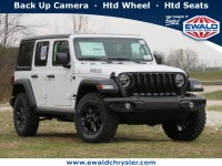 New, 2021 Jeep Wrangler Unlimited Willys 4X4, White, C21J110-1