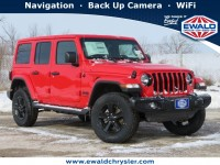 New, 2021 Jeep Wrangler Sahara Altitude 4x4, Red, C21J82-1