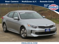Certified, 2017 Kia Optima Hybrid Base, Silver, 19K368A-1