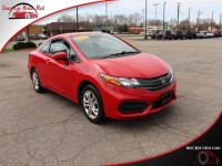 Used, 2015 Honda Civic Coupe LX, Red, 514871-1