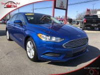 Used, 2018 Ford Fusion Hybrid SE, Blue, 137917-1