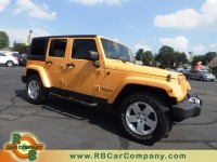 Used, 2012 Jeep Wrangler Unlimited Sahara 4x4, Yellow, 27925-1