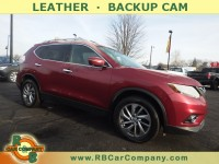 Used, 2014 Nissan Rogue SL AWD, Red, 30306-1