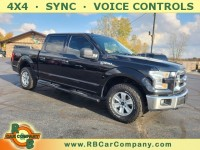 Used, 2017 Ford F-150 XLT 4WD SuperCrew 5.5' Box, Black, 31445-1