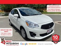 New, 2020 Mitsubishi Mirage G4, White, 16602-1